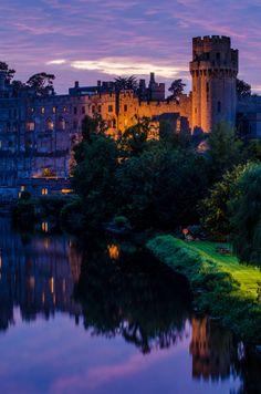 Warwick Castle on the River Avon, England