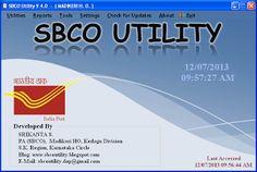 SBCO UTILITY V4.0 Released on 12/07/2013 DOWNLOADS SBCO UTILITY V4.0 Download  Installation Guide:- Download  Changes From V3.0 to V4.0  1) Fixed some bugs. 2) Added print Option after adding Objection in OM Register.   Download (SBCO UTILITY V4.0)
