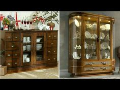 Modern Crockery Cabinet design (kritik furniture) Home Bar Cabinet, Kitchen Cabinet Design, Interior Design Kitchen, Stone Backyard, Crockery Cabinet, Rack Design, Furnitures, Modern Design, House Design