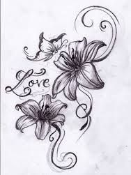 Image result for blank and grey lilies tattoos for women