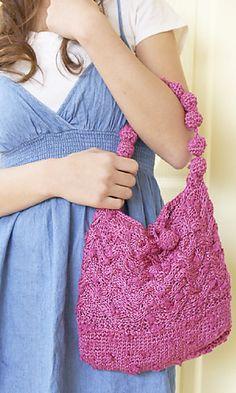 Ravelry: 210-65 Pompom Bag pattern by Pierrot (Gosyo Co., Ltd)