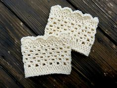 Ravelry: Lacy Patterned Boot Cuffs pattern by domestic bliss squared