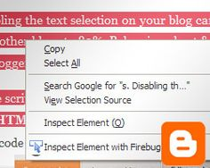 Disable right click on Blogger blog