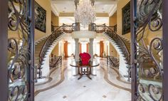 Peek inside Tyler Perry's magnificent Atlanta mansion, completed with a fitness center, spa, and home theater