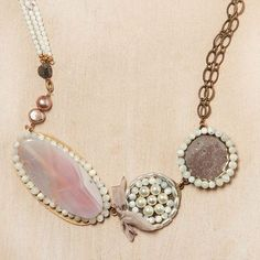 mixed romantic necklace- so romantic but can be fixed by a white button up and some tight denim jeans-