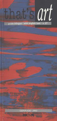 2002  That's art  guida mostre Milano