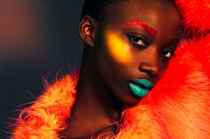 Sometimes a pop of color makes cheekbones to die for!