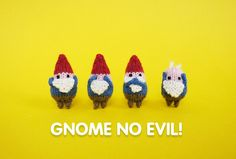 I think that I should knit more gnomes. They are so cute!