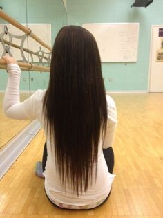 Beautiful Long Straight V-Cut Hair