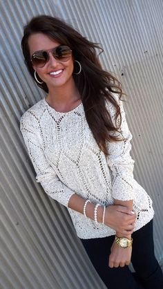 City Street Style Sweater - Ivory
