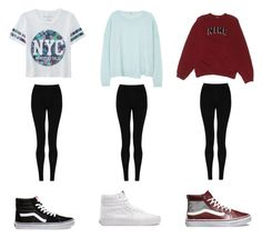 """sk8's"" by awears on Polyvore featuring Aéropostale, M&S Collection, Vans, J Brand, NIKE, women's clothing, women's fashion, women, female and woman"