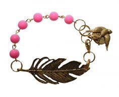 Niyaha bracelet gold and pastel pink