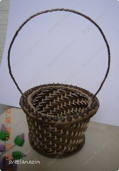 Мастер-класс Квиллинг Корзинка для квиллингового букета Бумажные полосы Картон Проволока фото 12