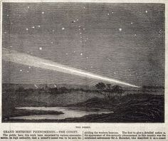 Astronomy: a comet in the night sky. CC-BY Wellcome Library.