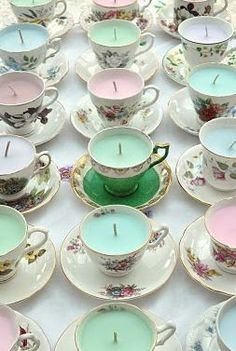 very cute handmade vintage candles