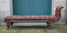 Lot 15D – A William IV mahogany day bed, – Two Day Sale of Antiques and Fine Art 09 Dec 2014