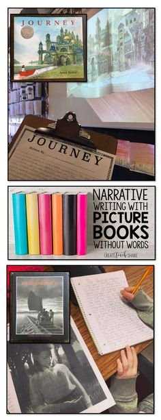 Teaching narrative writing, using picture books without words. Perfect for upper grades.