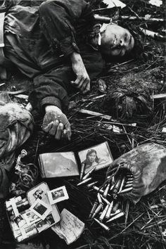 A fallen North Vietnamese soldier in Hue, South Vietnam (1968), by Don McCullin
