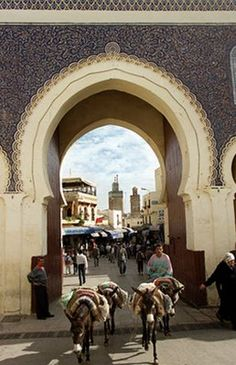 The Blue Gate in Fes