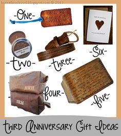 Leather anniversary ideas