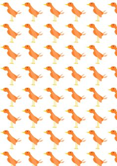 FREE printable orange duck pattern paper (- cute for kids gift wrapping)
