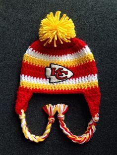 d2e7cea768ddd Crochet Hats   Scarfs   Mittens. Kc Chiefs HatsChiefs FootballKansas City  ChiefsNewborn CrochetCrochet Baby ...