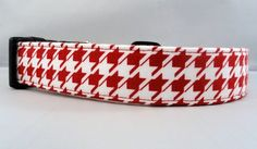 Awesome Red and White Houndstooth Dog Collar by Maltipaws on Etsy, $12.75