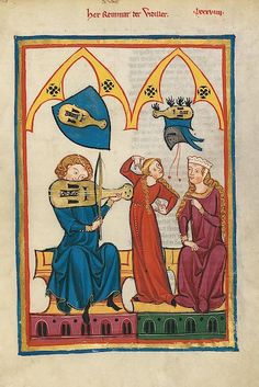Medieval and Early Modern Women : Photo Renaissance Music, Renaissance Kunst, Medieval Music, Medieval Books, Medieval Life, Medieval Manuscript, Medieval Clothing, Medieval Art, Illuminated Manuscript