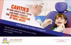 Dr. Sona, Greensboro, NC, helps parents protect those precious baby teeth through education and treatments designed to halt oral decay. 336 804 8668 #DentistGreensboro #Cavities