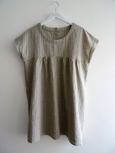 Linen Cotton Tunic in Blue Stripes by SundayFactory on Etsy, $53.00