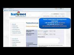 Film instruktażowy: Jak założyć telekonferencję przez panel klienta HaloNet?