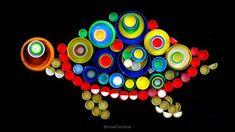 Mosaicos con tapones de plástico - RECICLADO CREATIVO por Rosa Montesa Diy, Pink, Bottle Caps, Murals, Mosaics, Canning, Do It Yourself, Bricolage, Handyman Projects