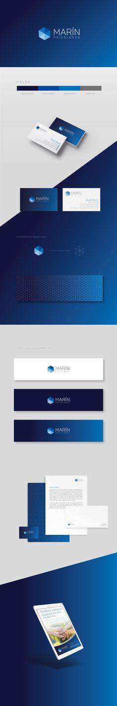 Proyecto de identidad corporativa realziado para Marín Psicólogos.