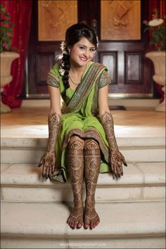 love her hair and mehndi