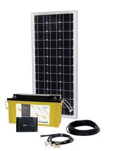 Solar Inselanlage 12 Volt Modul 50 Watt Phaesun Akku 12V/100 Ah Solar Inselanlage 12 Volt ET Modul 50 Watt Phaesun Akku 12V/100Ah [kit50wpb100ah] - 375.00EUR : Mare-Solar, - Solartechnik-Onlineshop