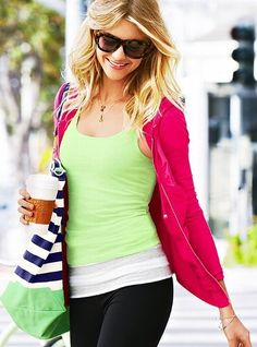 Ruched Yoga Jacket   $39.50 OWN THIS HOT PINK JACKET/ Candy