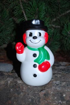 Vintage 1960's Banthrico Snowman Coin Bank by samjams3 on Etsy, $12.00
