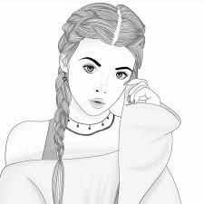 Image Result For Long Hair Beginner Easy Drawings Of Girls With
