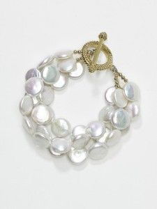 Coin pearl bracelet by KEP Designs