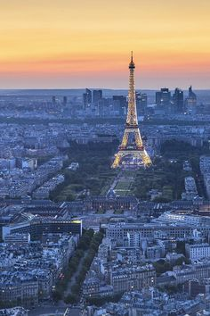 Sunset in Paris  (by Sebastian Krzeminski)
