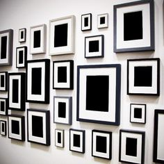 Love this idea for a salon wall. Taken at the Museum of Modern Art, New York City.