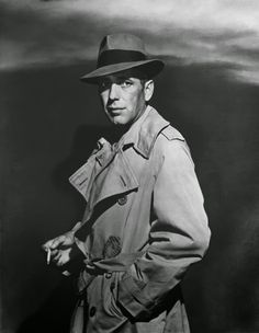 f38c6dd4297b2e The Maltese Falcon Humphrey Bogart's Sam Spade donned a fedora and trench  coat for his role in The Maltese Falcon and became a noir icon, influencing  the ...