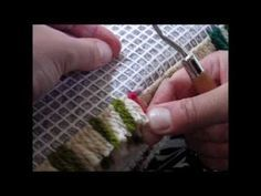 Latch Hook Tutorial by Utterly Hooked Designs Locker Hooking, Rug Hooking, Develop Pictures, Latch Hook Rugs, Weaving Textiles, Punch Needle, Loom Knitting, Woven Rug, Yarn Crafts
