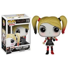 Get the Harley Quinn Pop! vinyl figure from the Batman: Arkham Knight video game for the holidays, birthdays or to spoil yourself. - Part of the Funko Pop! Vinyl Figure DC Comics collection - Head of Batman Arkham Knight, Pop Vinyl Figures, Overwatch, Dc Comics, Funko Pop Batman, Funko Pop Dolls, Funko Toys, Pop Figurine, Pop Toys