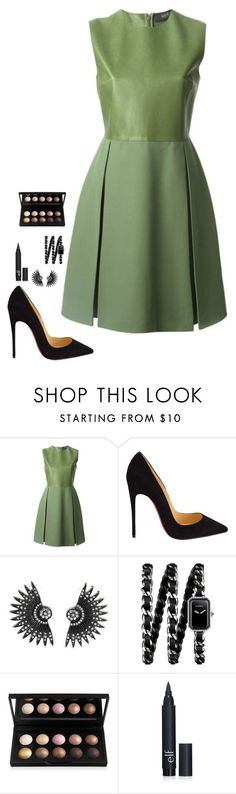 Untitled #451 by h1234l on Polyvore featuring Gucci, Christian Louboutin, Chanel, women's clothing, women's fashion, women, female, woman, misses and juniors