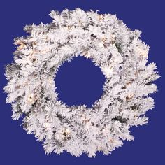 Heavy flocking lends a snow-laden look to the Vickerman Pre-Lit Flocked Alaskan Pine Artificial Christmas Wreath . This Christmas wreath is embedded. Pre Lit Wreath, Christmas Wreaths With Lights, Artificial Christmas Wreaths, Holiday Wreaths, Holiday Decorations, Christmas Trees, Christmas Things, Christmas Goodies, Holiday Gifts
