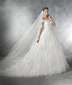 PLEASANT - Vestido de noiva de tule e corte baixo de inspiração vintage - Pronoivas