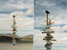 Desert Road Signs