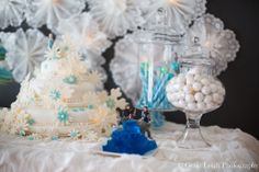 We're loving the kid-friendly blue jello and blue and white candies, along with the elegant glass jars.  Source: Genie Leigh Photography