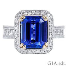 #Tanzanite's appearance is influenced greatly by its pleochroism – the property whereby some #gemstones show different colors when viewed from different directions. Tanzanite can be violetish blue or much more purple. Which hue would you choose? Courtesy: @1stdibs